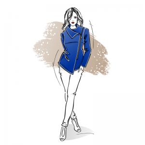 Wykrój na bluzo-marynarkę Megan damską