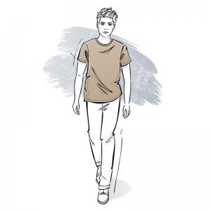 Wykrój na t-shirt męski