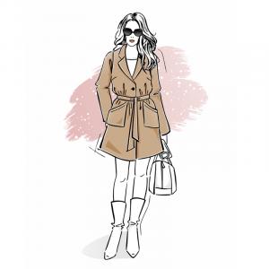 Wykrój na płaszcz flauszowy online damski