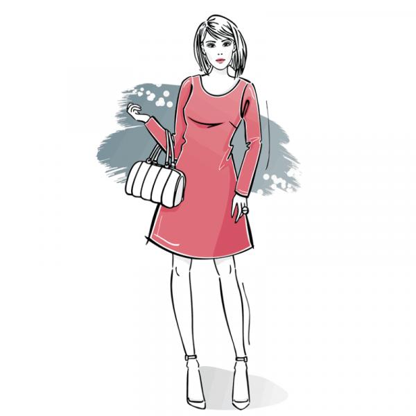 wykroj na sukienke damska A