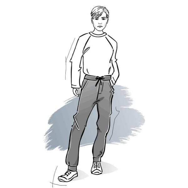 wykroj na spodnie dresowe meskie