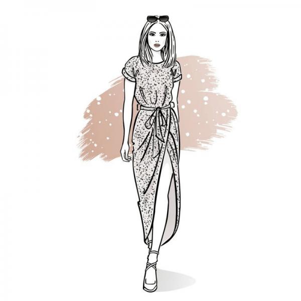 wykroj na sukienke damska Carmen