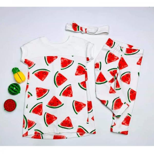 leginsy dzieciece i t-shirt dzieciecy wykroj zestaw