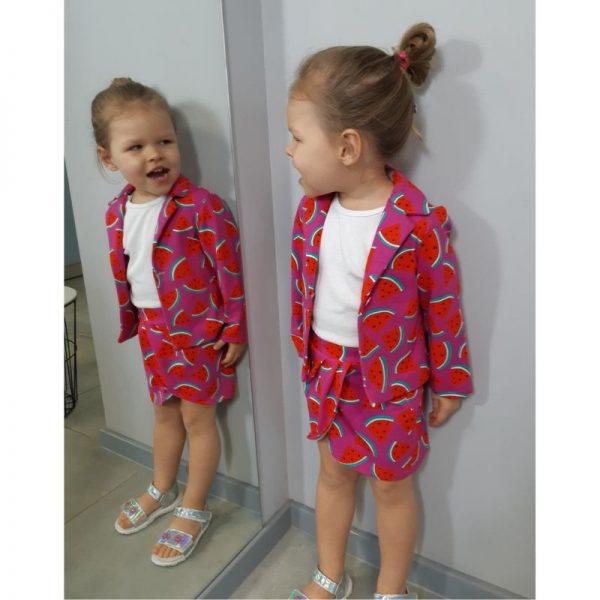 marynarka dla dziewczynki i spodniczka tulipan