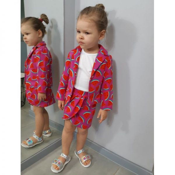 marynarka dla dziewczynki i spodniczka tulipan strefa