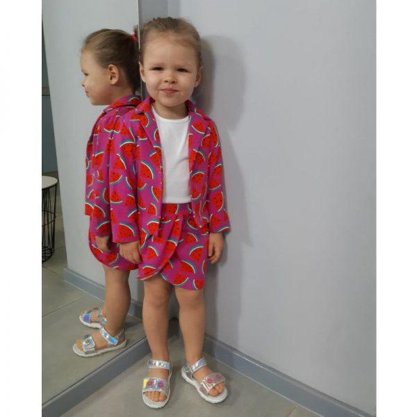marynarka dla dziewczynki i spodniczka tulipan wykroj online