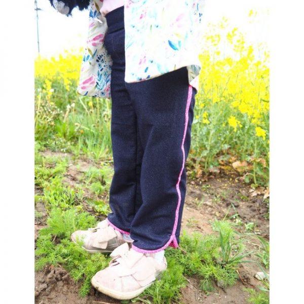spodnie dziewczece z lamowka viki