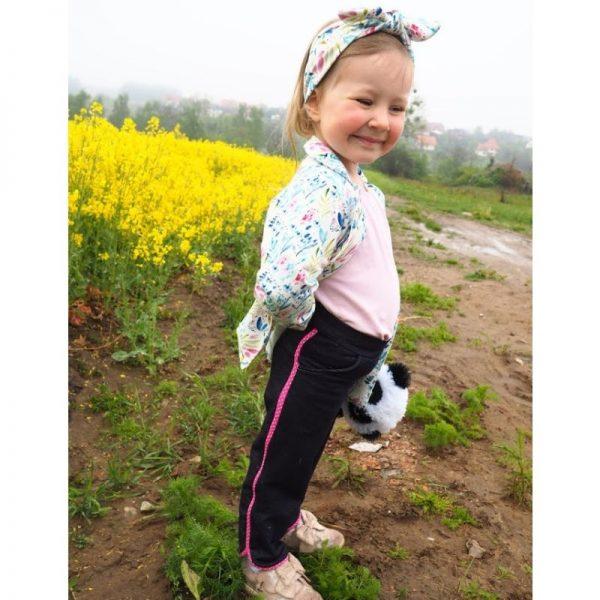 spodnie dziewczece z lamowka viki strefa kroju i szycia