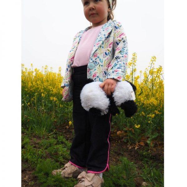 spodnie dziewczece z lamowka viki wykroj