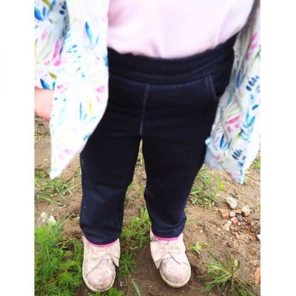 spodnie dziewczece z lamowka viki wykroj online