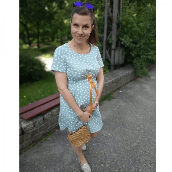 sukienka ciazowa wykroj