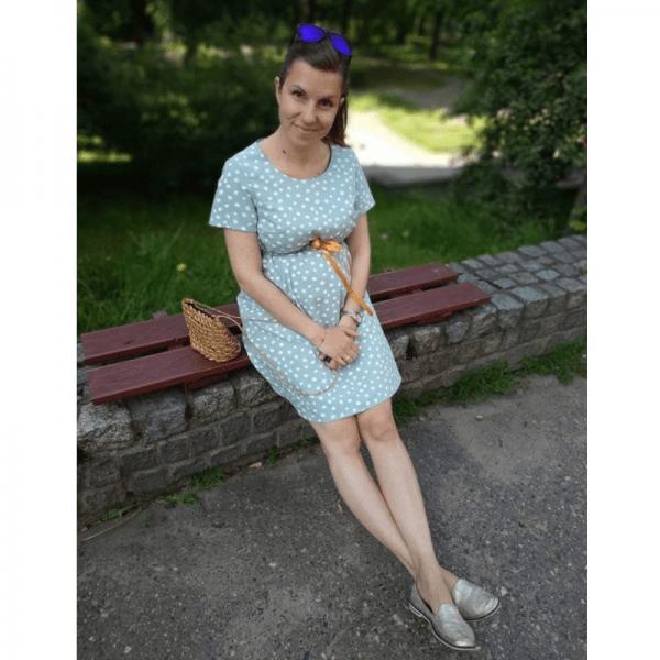 sukienka ciazowa wykroj online strefa szycia