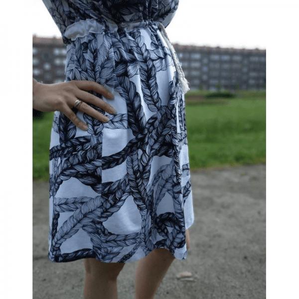 sukienka ciazowa wykroj online wzór