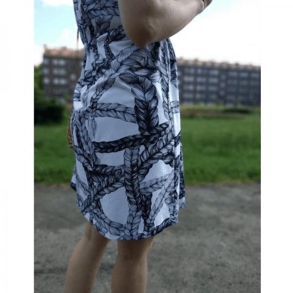 sukienka ciazowa wykroj online wzor