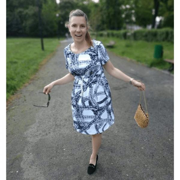 sukienka ciazowa wykroj online wzorzysta