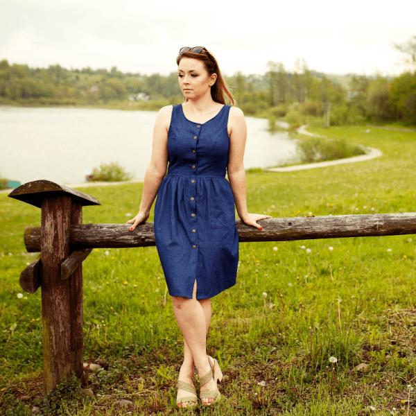 sukienka damska zapinana na guziki wykroj online strefa