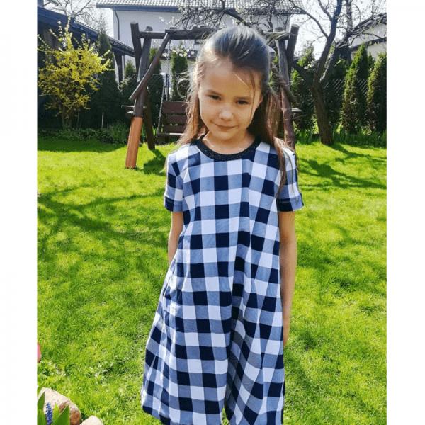 sukienka dziewczeca A w kratke