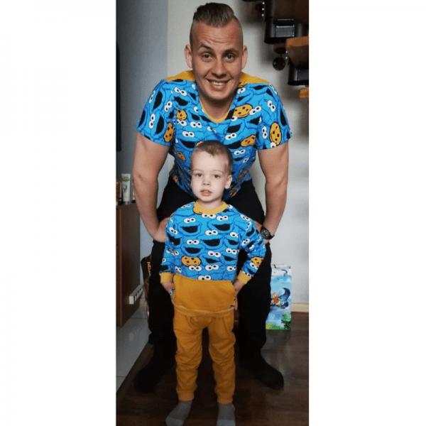 t-shirt meski i dzieciecy wykroj online