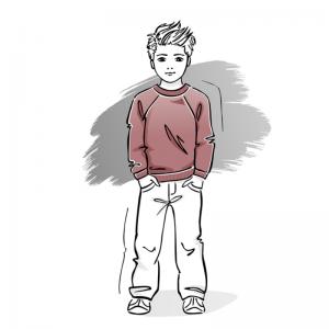 wykroj na bluze dziecieca raglan