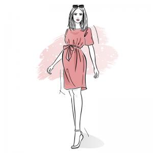 wykroj na sukienke ciazowa