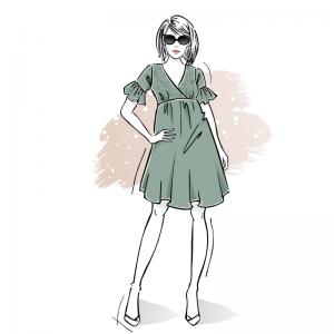 wykroj na sukienke damska venus