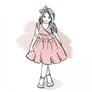 wykroj na sukienke dla dziewczynki zozo