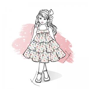 Wykroj-na-sukienke-dziewczeca-z-falbankami-laura