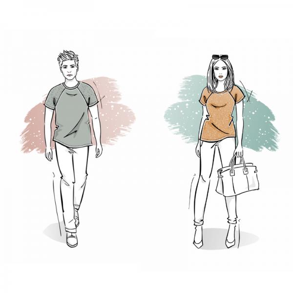 pakiet-t-shirt-meski-damski-rekaw-raglanowy