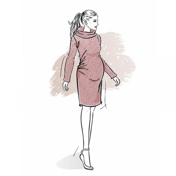 wykroj-na-sukienke-ciazowa-z-marszczeniami-na-brzuchu
