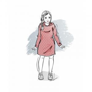 wykroj-na-sukienke-sportowa-dziewczeca-z-kapturem