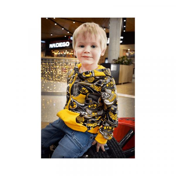 Wykrój na bluzę dla chłopca Janek