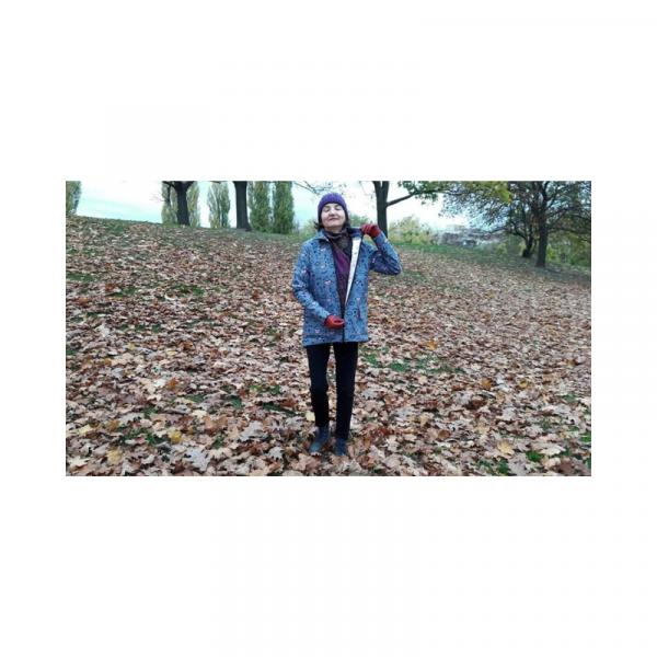 Szycie na żywo fb live jesienna-zimowa kurtka