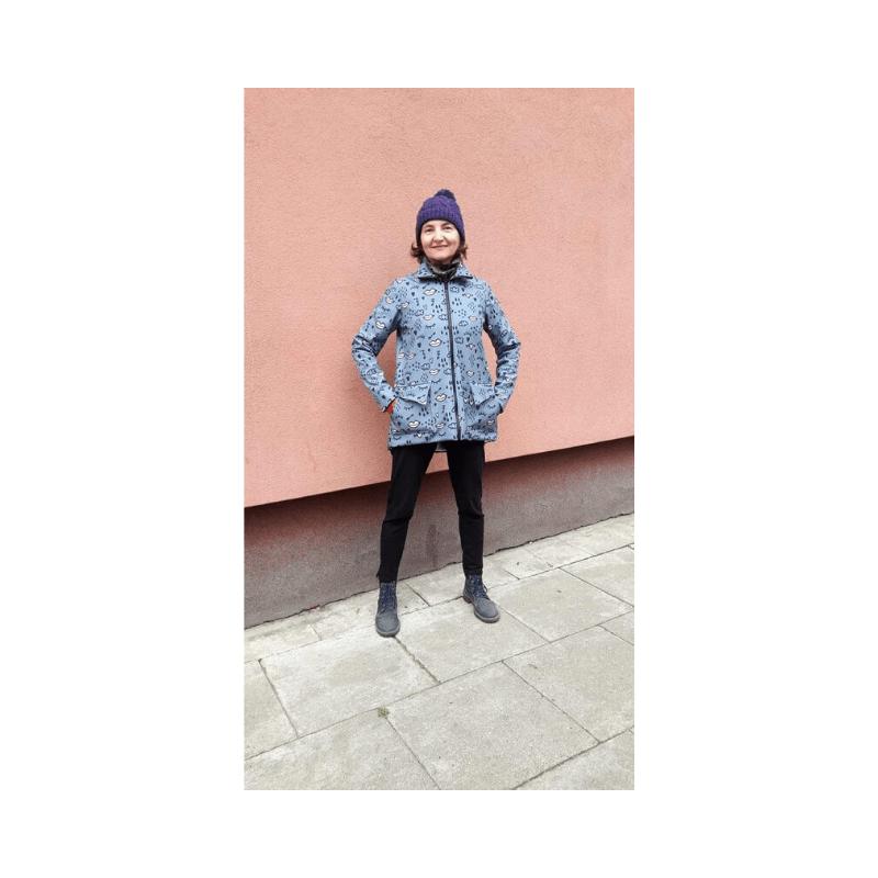 Szycie nażywo fb live jesienna-zimowa kurtka