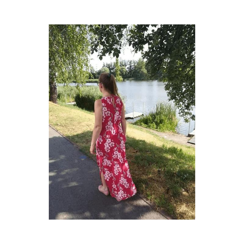szycie nażywo fb live jak uszyć letnią sukienkę maxi