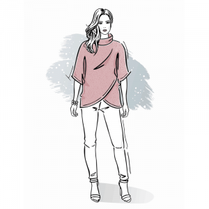 Wykrój na bluzę damską Moni