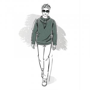 Wykrój na sweter męski Gracjan