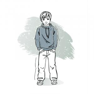 Wykrój na sweterek dla chłopca Gracjan