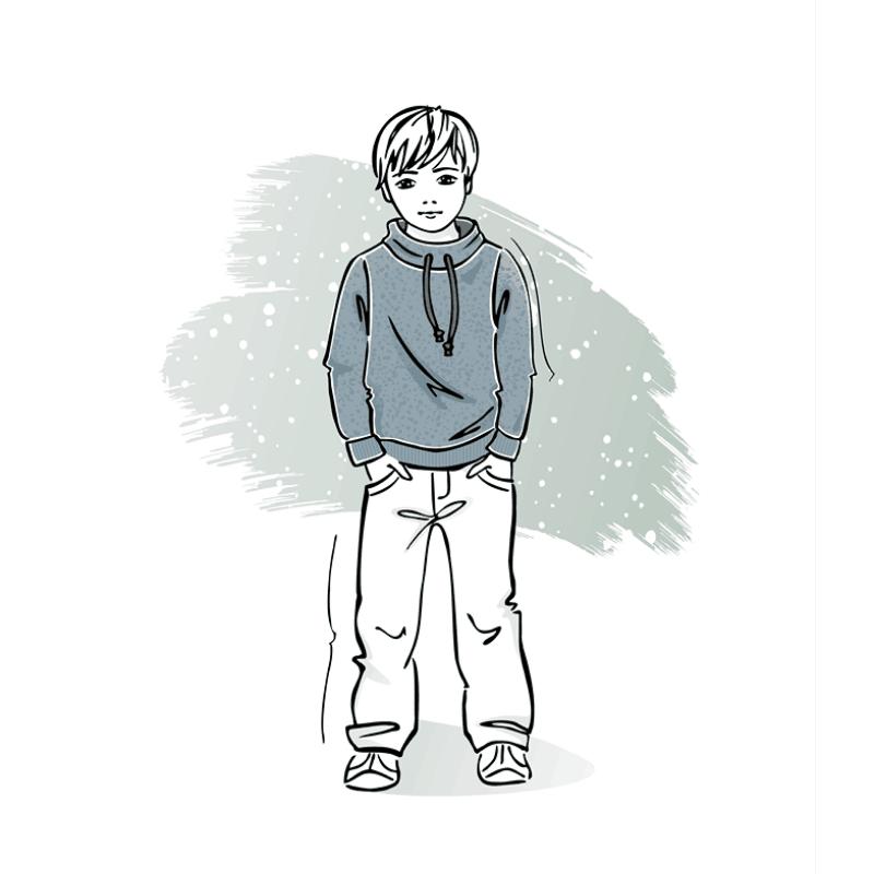 Wykrój nasweterek dla chłopca Gracjan