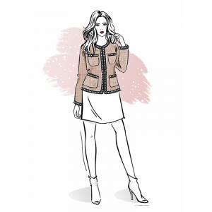 Wykrój na żakiet damski Chanel