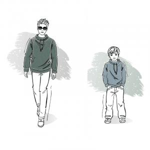 Wykrój na sweter męski Gracjan i dla chłopca