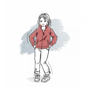 Wykrój na bluzę ze stójką dla chłopca dziewczynki