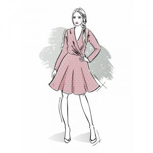 Wykrój na sukienkę damską Serafina