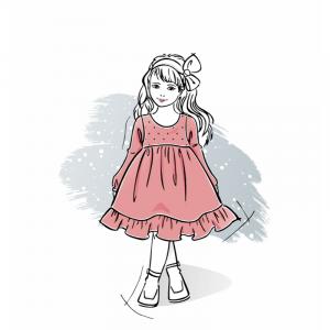 Wykrój na sukienkę dla dziewczynki Sisi