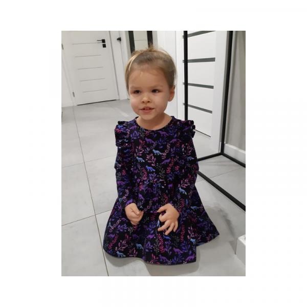 Wykrój na sukienkę dla dziewczynki Sara