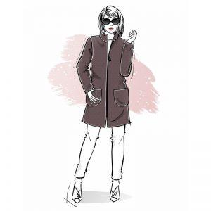 Wykrój na płaszcz damski Letycja