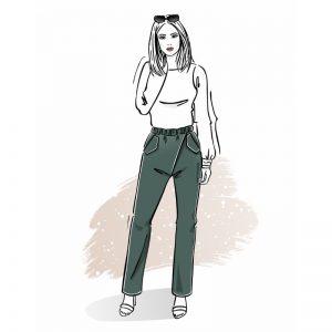 Wykrój na spodnie damskie Lora