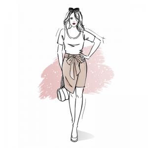 szkoła szycia online spódnica damska z podszewką