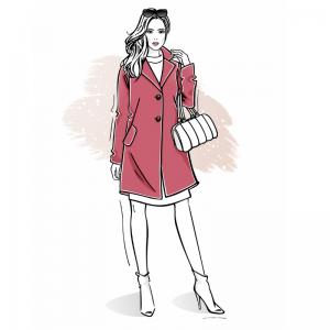 Wykrój na płaszcz damski Marianna