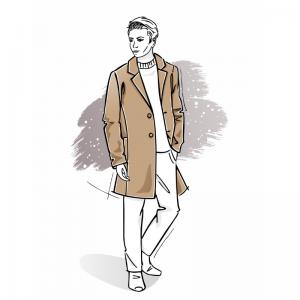 Wykrój na płaszcz męski Massimo