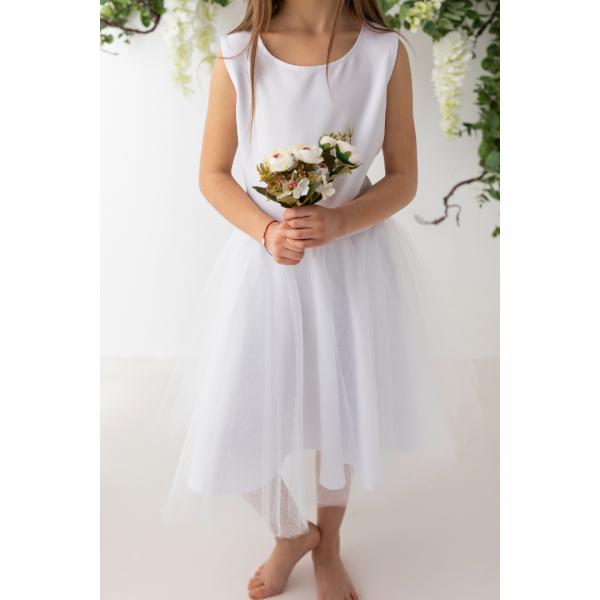 Wykrój na sukienkę komunijną dla dziewczynki Malwina